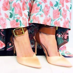 ❤️Alice + Olivia pumps shoes ankle straps sateen38